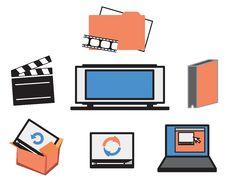 Free Video Media Icons Stock Photography - 4166722