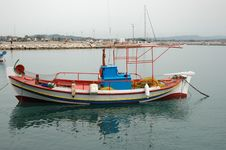 Free Fishing Boat In Greece Stock Images - 4167204