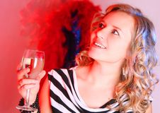 Free Beautiful Girl With Champagne Stock Photo - 4167430