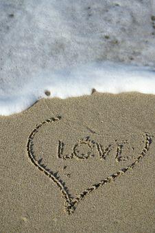 Free Heart Sand Stock Photos - 4169913