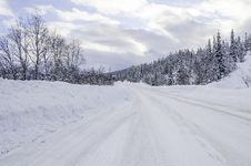 Free Winter Road Stock Images - 41696954