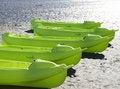 Free Green Kayaks Stock Image - 4170081