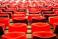 Free Curves Of Red Chairs Royalty Free Stock Photo - 4178645