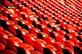 Free Curves Of Red Chairs Stock Photo - 4178670