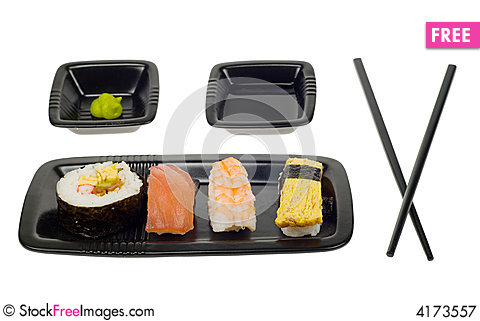 Free Assortment Of Sushi Royalty Free Stock Photography - 4173557