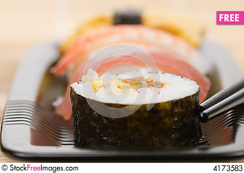 Free Assortment Of Sushi Stock Photos - 4173583