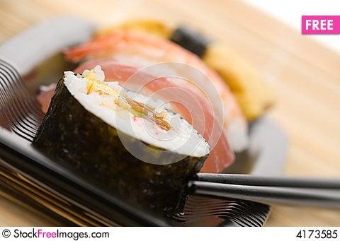 Free Assortment Of Sushi Royalty Free Stock Photo - 4173585