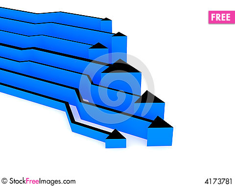 Free 3d Blue Arrows Competition Stock Image - 4173781