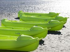 Free Green Kayaks Stock Image - 4170081
