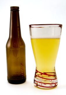 Free Beer Bottle And Glass Stock Photos - 4170093