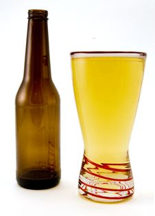 Free Beer Bottle And Glass Stock Image - 4170101