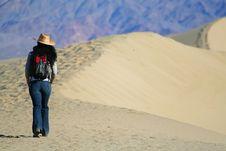 Free Desert Dune Hiker Royalty Free Stock Photos - 4170778