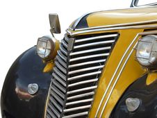 Free Radiator Of Old Yellow Car Royalty Free Stock Images - 4171569