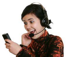 Free The Girl In Headphones Stock Photos - 4171843