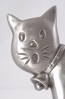 Free Head Of A Metal Toy Cat Royalty Free Stock Photo - 4171905