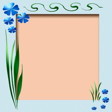 Free Spring Scrapbook Frame Royalty Free Stock Photography - 4172107