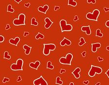 Free Red Hearts Background / Texture Royalty Free Stock Photos - 4172378