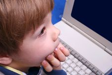 Free Boy Using A Laptop Royalty Free Stock Images - 4173219