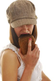 Free Portrait With Bread Royalty Free Stock Image - 4173316