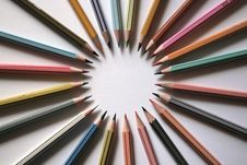 Free Color Pencil Circle 1 Royalty Free Stock Photo - 4173495