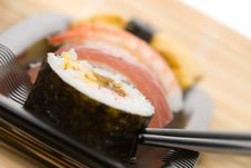 Assortment Of Sushi Royalty Free Stock Photo