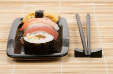 Assortment Of Sushi Royalty Free Stock Images