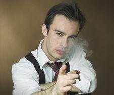 Free Smoking  Man Stock Photos - 4173723