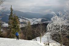 Free Alpine Skiing Royalty Free Stock Image - 4173876