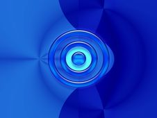 Free Blue Background With A Circle Stock Image - 4174221