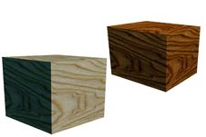 Free Wooden Boxes In 3D Royalty Free Stock Image - 4174276