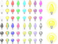 Color Bulbs Royalty Free Stock Image