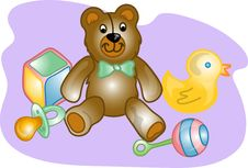 Free Baby Toy Set Illustration Royalty Free Stock Photo - 4175085