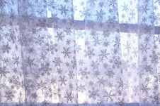 Free Snowflake Curtain Royalty Free Stock Image - 4176996