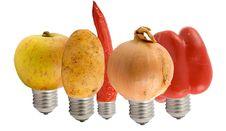Free Fruit Lamps Royalty Free Stock Image - 4177836