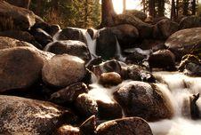 Free Waterfall On Rocks Royalty Free Stock Image - 4178236
