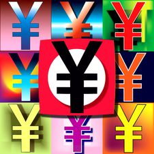 Free Yen POP Flag Stock Photography - 4178422