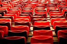 Free Red Chairs In As Stadium Stock Image - 4178651