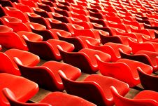 Free Red Curves Of Chairs Royalty Free Stock Images - 4178669
