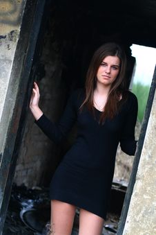 Free Young Girl In The Ruins2 Royalty Free Stock Photo - 4178805