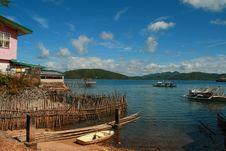 Free Coastal Town Royalty Free Stock Image - 4178976