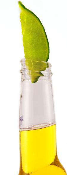 Beer And Lime Stock Photo