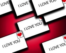 Free Lots Of Love Letters 3 Royalty Free Stock Photos - 4179728