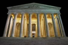Free Jefferson Memorial At Night 02 Royalty Free Stock Photography - 4179907