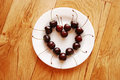Free Cherries In Heart Shape On The Plate Royalty Free Stock Photos - 4180678