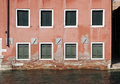 Free Venice, Windows - Water Front Facade Stock Image - 4187711