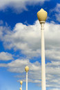 Free Lamp Posts With Cloudy Sky Stock Photo - 4189260