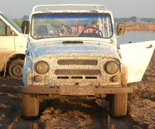 Dirty Cross-country Vehicle Royalty Free Stock Images