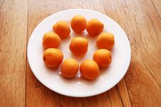 Apricots On The Plate Stock Photo