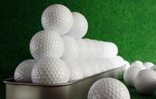 Free Golfballs Royalty Free Stock Photography - 4181227