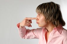 Free Touching A Nose Stock Photography - 4182052